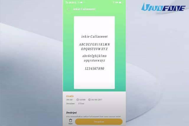 Ganti Font Vivo Terbaru