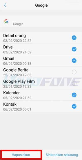 Hapus Akun Google Hp Vivo