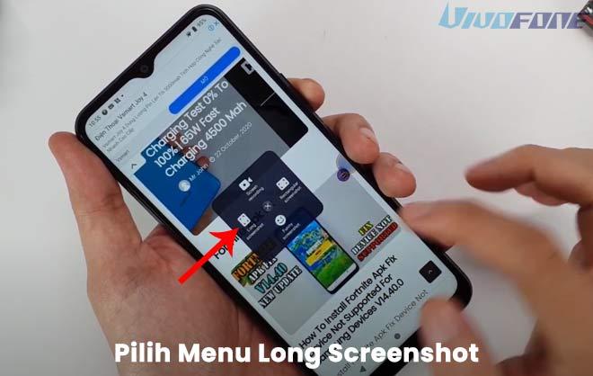 Cara Screenshot Panjang Hp Vivo Y12s